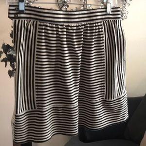 J. Crew Black and Cream Mini Skirt Size 2